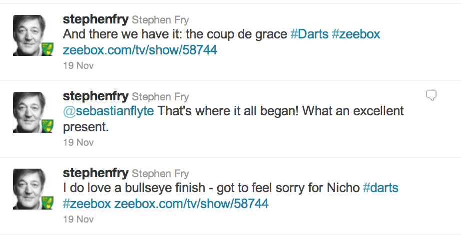 Stephen Fry on Twitter: the conversation isn't visible