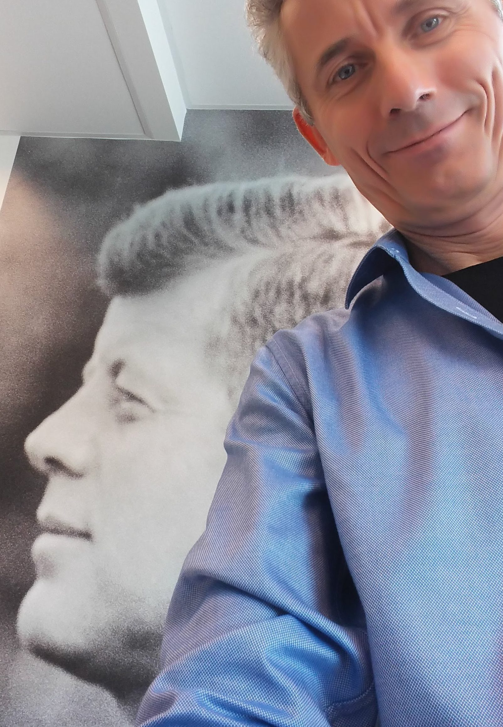Me with John F. Kennedy: look at two rhetorical devices that JKF loved to used.